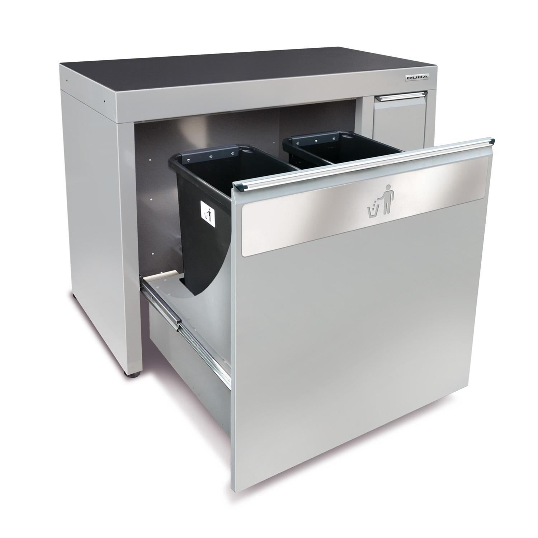 1200mm meuble pour poubelle avec 4 poubelles amovi pieds - Meuble pour poubelle ...